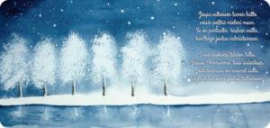 10 X Valkoisen lumen lailla -kortti