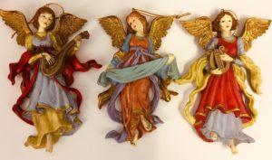 Muoviset roikkuvat koriste-enkelit (3 kpl)