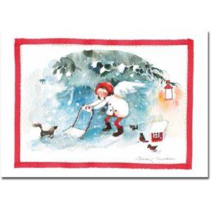 Joulukortti: Lumityöt