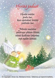 Joulukortti: Hyvän mielen joulu