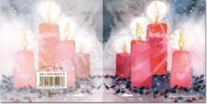 Joulukortti: Kynttilät (2-osainen)