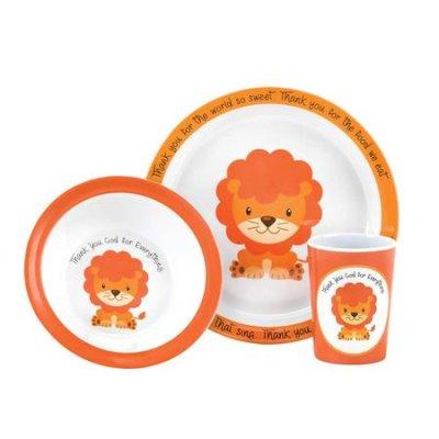 Lasten ateriasetti: lautanen, kulho ja muki