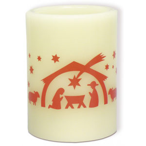 Kynttilä, led-valolla, jouluseimi
