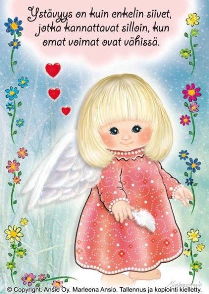Kortti: Ystävyys on kuin enkelin siivet