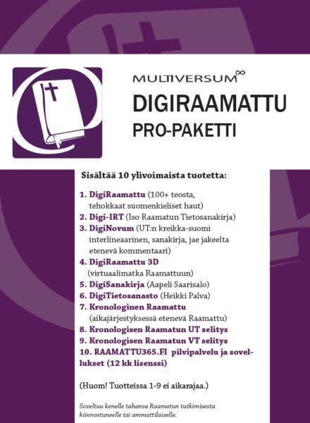 DigiRaamattu Pro -paketti lahja / jälleenmyyjä (mm. IRT, Novum, + Saarisalo + Palva)