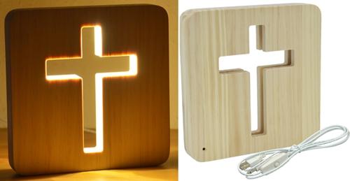 Puuristi LED-valolla