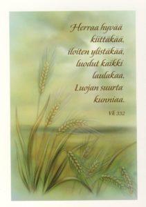 Kortti, Herraa hyvää kiittäkää
