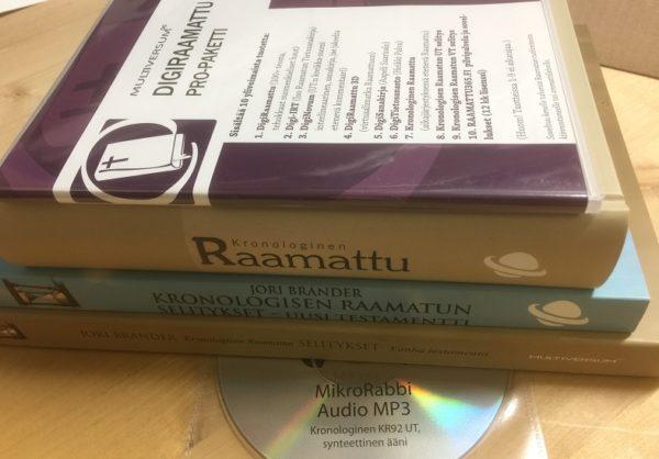 Kronologinen Raamattu + UT + UT-MP3 + VT + DigiRaamattu