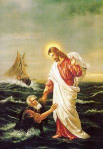 Postikortti, Jeesus ja Pietari
