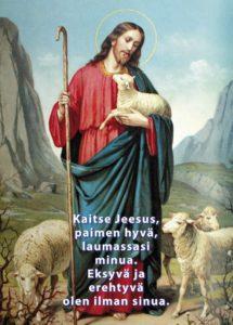 Postikortti, Kaitse Jeesus (Hyvä Paimen)