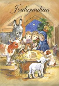 2-osainen jouluevankeliumikortti (Seimi)
