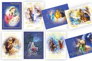 Joulukorttisarja: Raamattuaihe (8 kpl lajitelma)