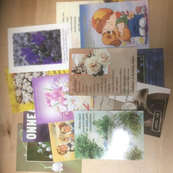 6 kpl sarja hengellisiä kortteja