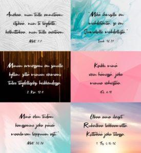 Raamatunlausetarrat, 6 erilaista