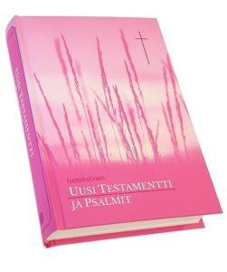 Uusi Testamentti ja Psalmit, pinkki (isotekstinen)