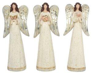 3 enkelin paketti: kädessä Raamattu, kyyhkynen ja sydän