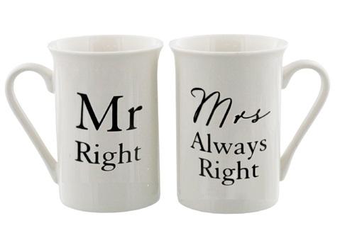 Tekstimukipari Mr. Right/Mrs. Always Right