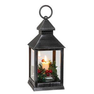Joululyhty LED-kynttilällä, musta