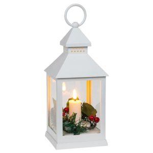 Joululyhty LED-kynttilällä ,valkoinen
