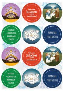 Pyöreät joulupakettitarrat 2