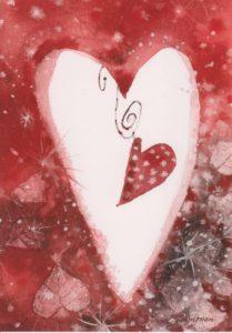 Joulukortti: Sydän