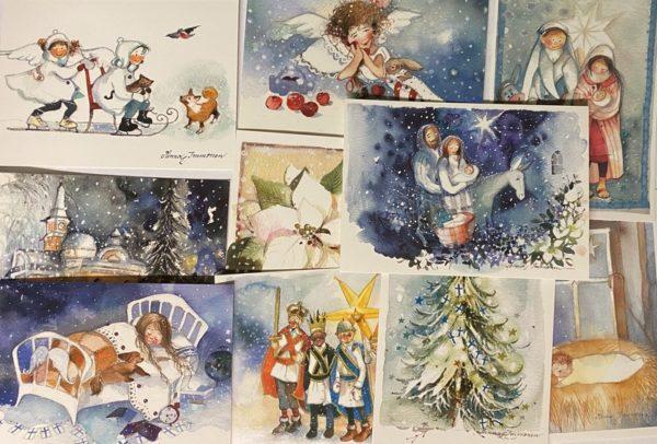 Immosen joulukorttipaketti (17 korttia)