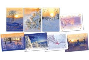 Joulukortteja, 8 kpl lajitelma (Valon Juhla 2020)