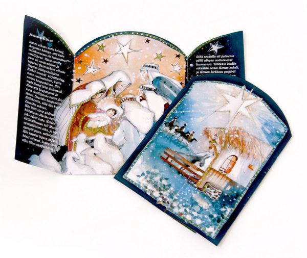 Joulukortti Seimen äärellä (A, ruotsinkielinen)