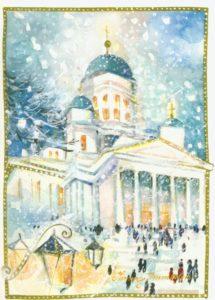 Joulukortti: Tuomiokirkko