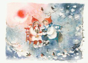 Joulukortti: Metsäretki