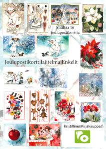 Joulupostikorttilajitelma:: Enkelit (sis. 16 korttia)
