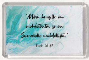 Magneetti, Mikä ihmisille on mahdotonta Luuk. 18:27