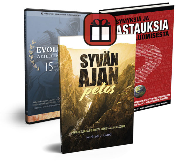 Kysymyksiä ja vastauksia luomisesta + Evoluution Akilleen kantapäät DVD + Syvän ajan petos