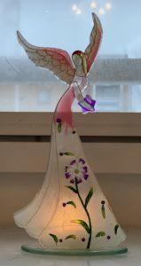 Pinkki lasienkeli-tuikkualunen