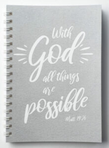 Kierrevihko - With God all things are possible, harmaa