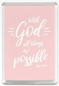 Magneetti, With God all things are possible, roosa