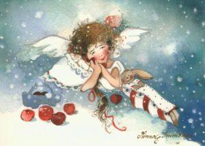 Joulukortti: Jouluenkeli