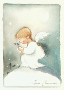 Kortti: Lapsienkeli (sopii myös joulukortiksi)