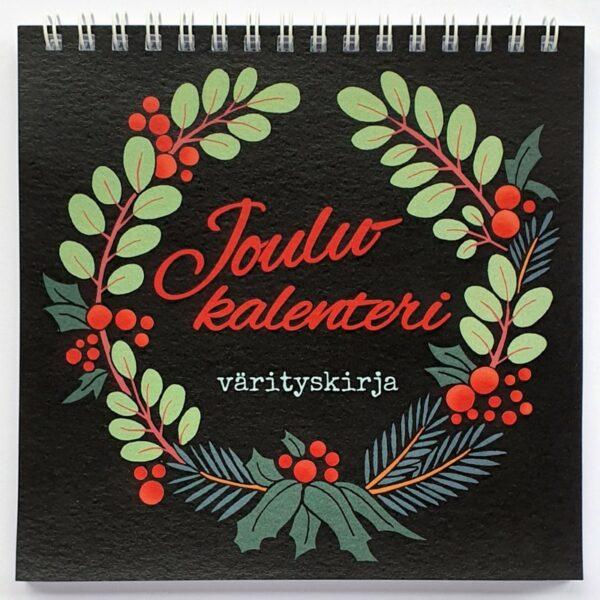 Joulukalenteri värityskirja