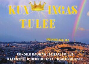 Rukoile rauhaa Jerusalemille 2022 -kalenteri