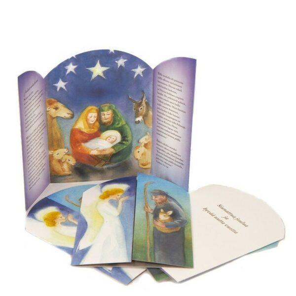 Joulukortti 2021 + kirjekuori (Maarit Lassila) Joulun ilosanoma